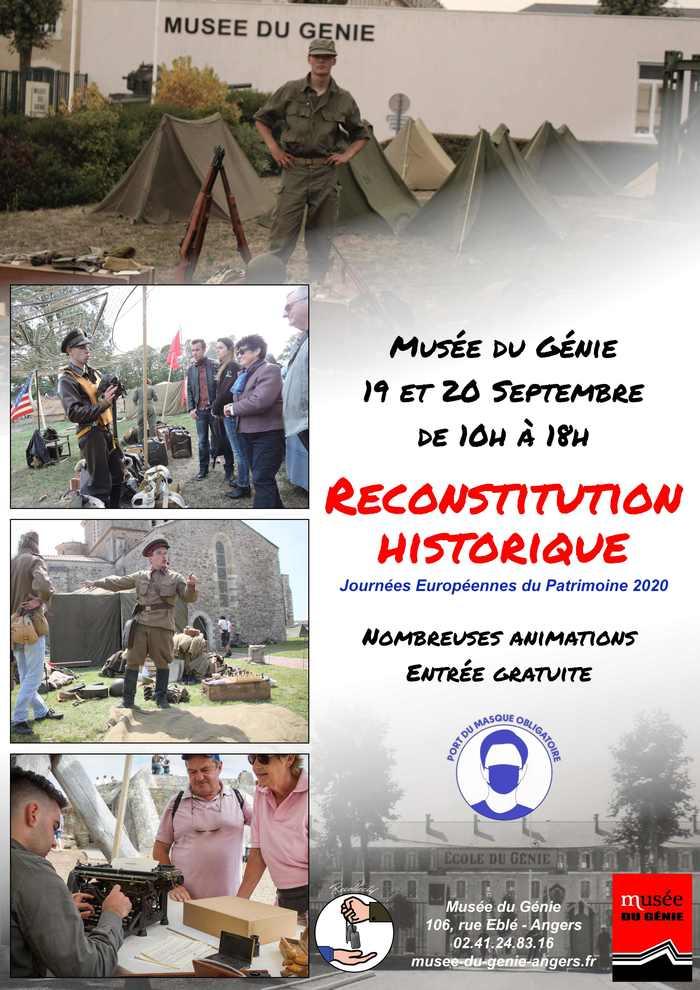 Journées du patrimoine 2020 - Reconstitution historique au Musée du Génie d'Angers