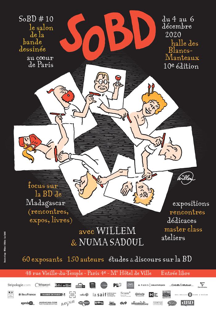 Le Salon de la Bande Dessinée au cœur de Paris, le SoBD tiendra sa 10e édition du 4 au 6 décembre 2020 à la Halle des Blancs Manteaux. L'accès au salon est gratuit.