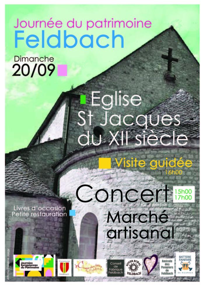 Journées du patrimoine 2020 - A la découverte de l'église de Feldbach !