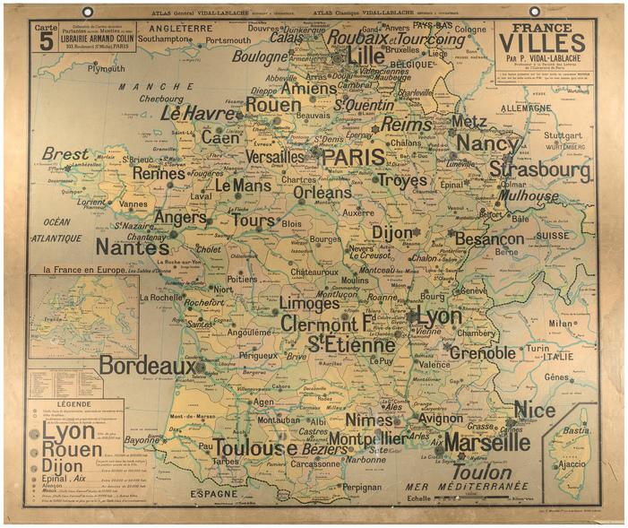 Journées du patrimoine 2019 - Entre carte Vidal-Lablache et encre violette... balade littéraire dans l'école d'avant hier
