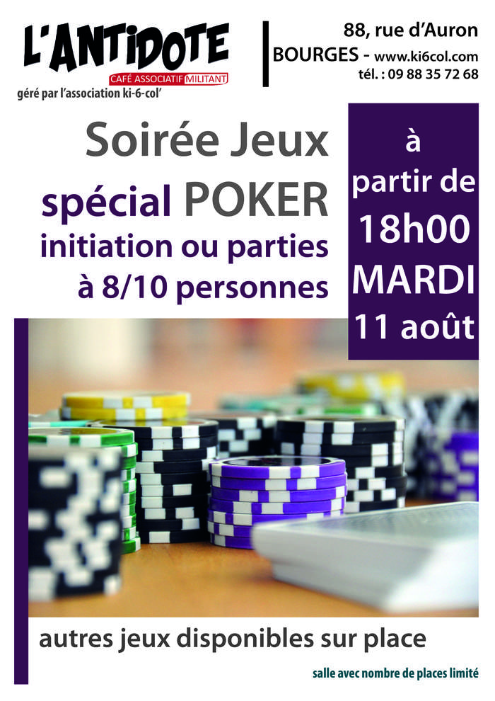 Soirée jeux, spécial poker