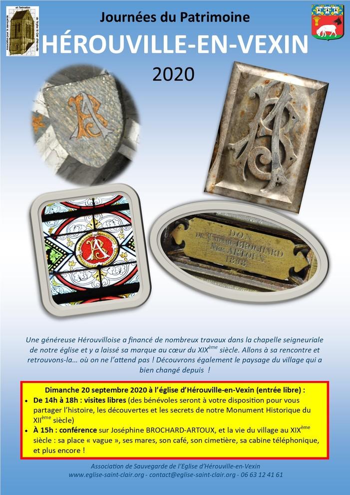 Journées du patrimoine 2020 - Visite de l'église Saint Clair d'Hérouville-en-Vexin