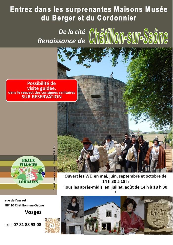 Journées du patrimoine 2020 - Découvrez la cité Renaissance de Châtillon-sur-Saône