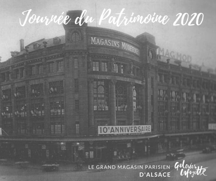 Journées du patrimoine 2020 - A la découverte de l'histoire des Galeries Lafayette de Strasbourg