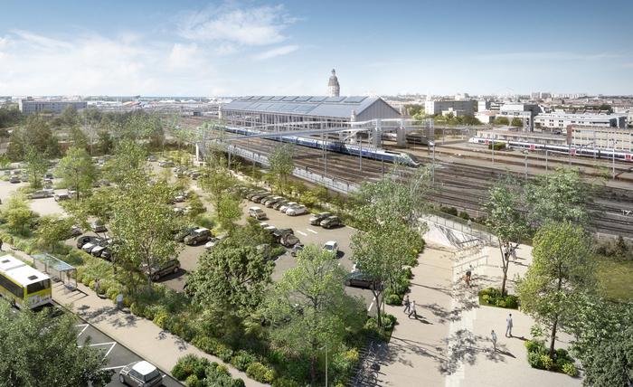 Visite du chantier de la gare de La Rochelle