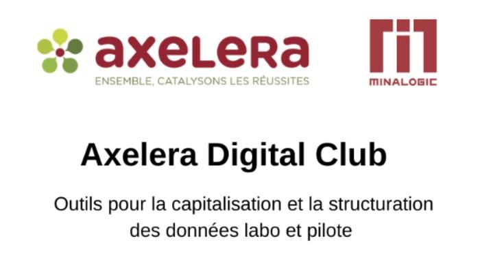 Axelera - Digital Club : données labo et pilote