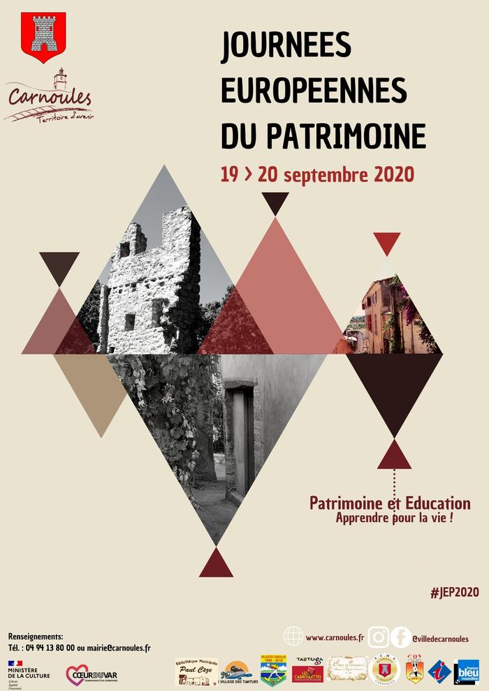 Journées du patrimoine 2020 - JOURNÉES EUROPÉENNES DU PATRIMOINE 2020