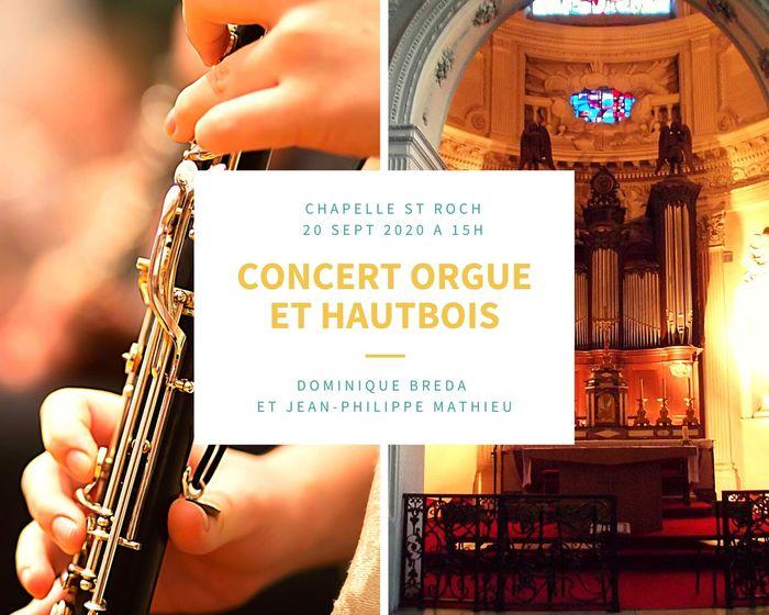 Journées du patrimoine 2020 - Concert orgue et hautbois