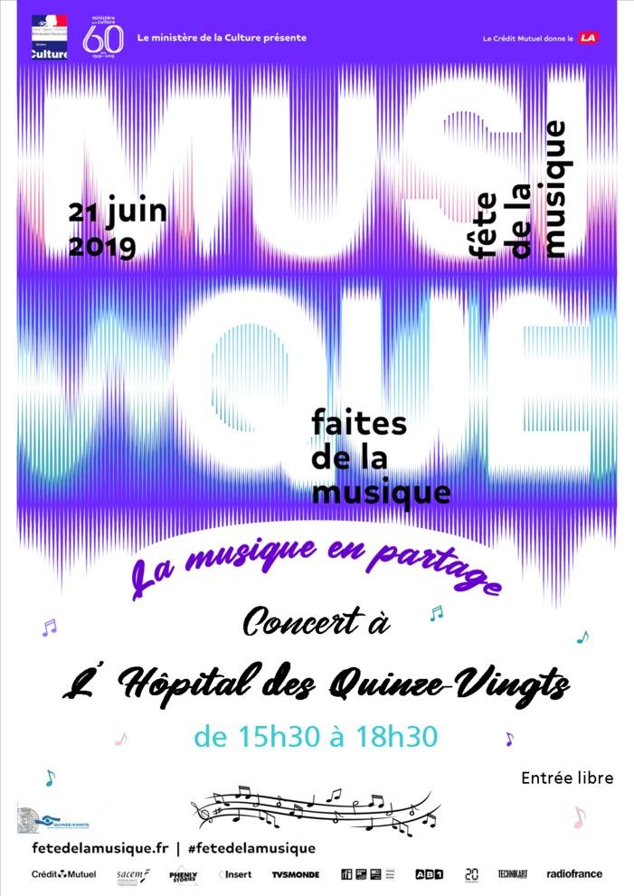 Fête de la musique 2019 - Concert à l'Hôpital des Quinze-Vingts