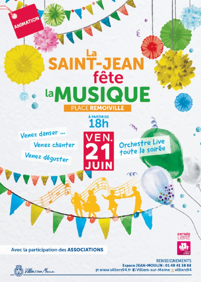 Fête de la musique 2019 - Les Soufflants / Minis rocjers / Red Fingers / Jean Cotxet