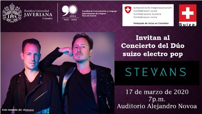 Concert Stevans - Le duo electro-pop à la Pontificia Universidad Javeriana.