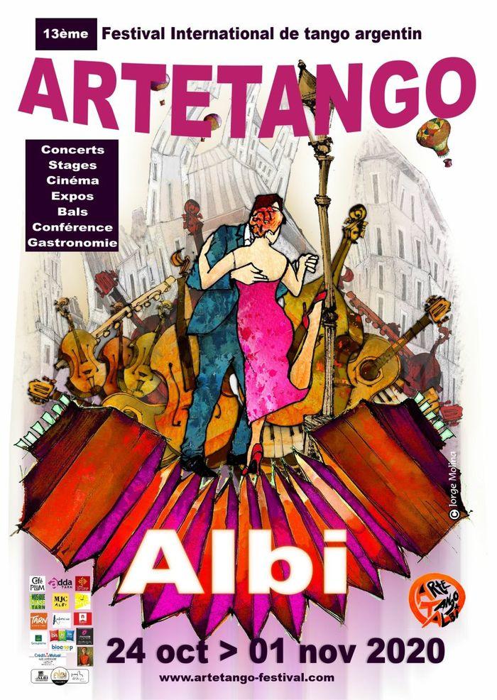 Du 24 octobre au 1er novembre 2020, Albi va vivre au rythme du tango pour cette 13ème édition du Festival Artetango qui sera dédiée à la création.