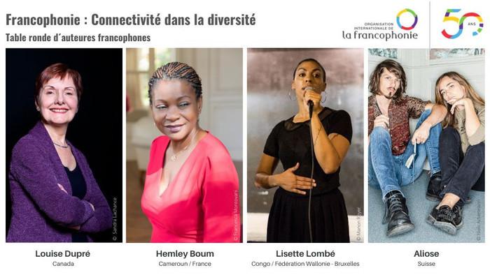 Table-ronde avec les auteures Hemley Boum, Lisette Lombé et Louise Dupré
