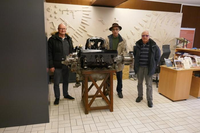 Journées du patrimoine 2020 - Présentation d'un moteur-canon Hispano Suiza de la Grande Guerre