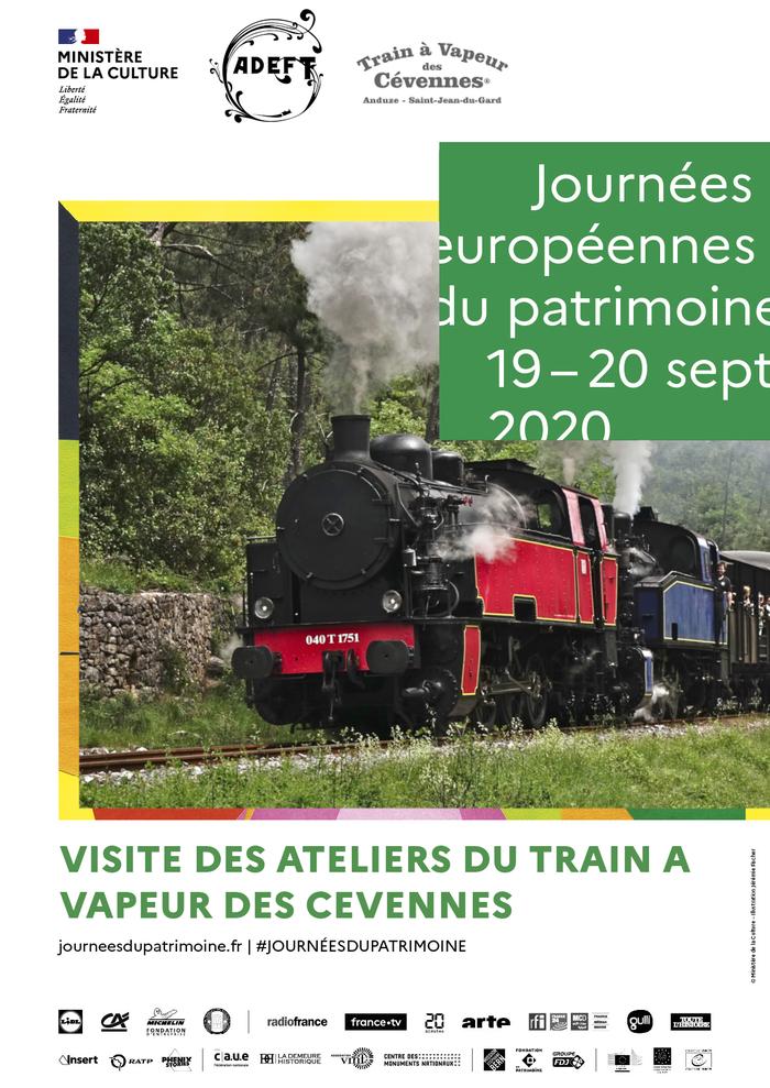 Journées du patrimoine 2020 - Visite guidée des ateliers du train à vapeur des Cévennes
