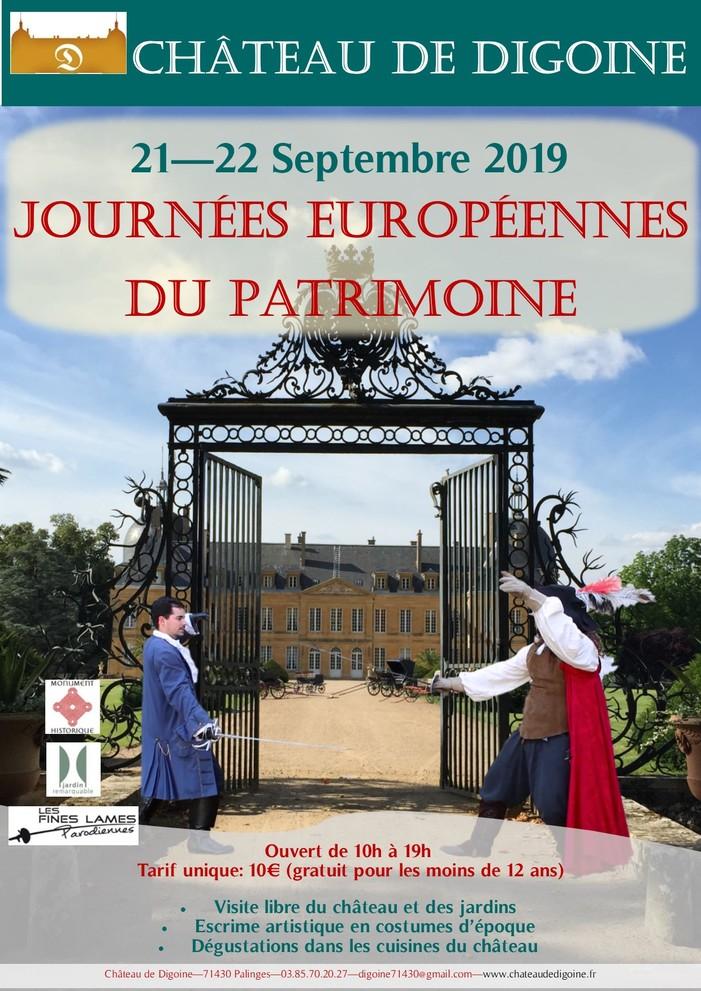 Journées du patrimoine 2019 - Démonstrations d'escrime artistique en costumes d'époque et ateliers d'initiation pour enfants au château