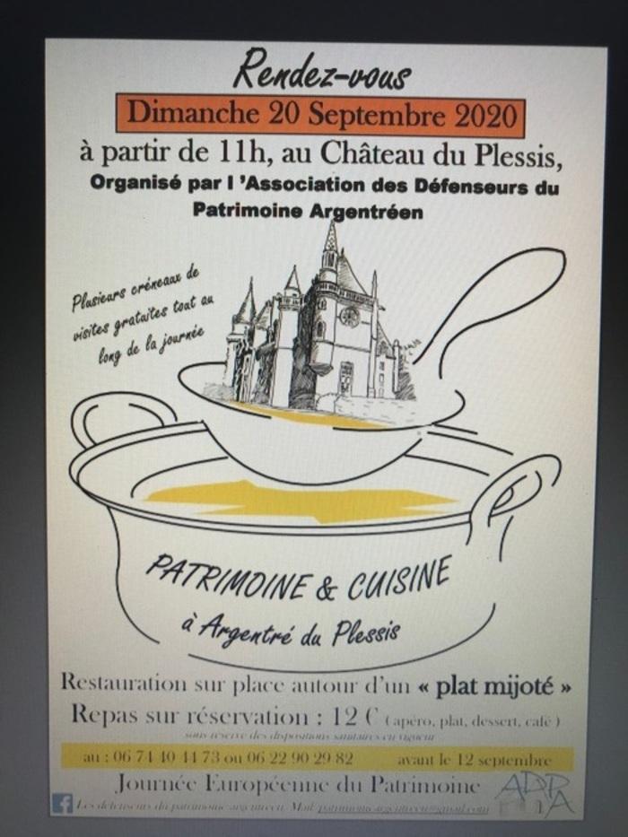 Journées du patrimoine 2020 - Visite des cuisines et du potager du château du Plessis