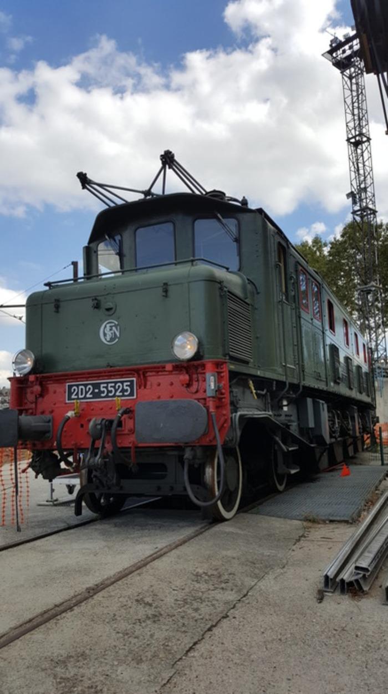 Journées du patrimoine 2020 - Visite guidée du site de l'ancien dépôt des locomotives à vapeur de Paris-Ivry et de la locomotive électrique 2D2 5525 de 1934.