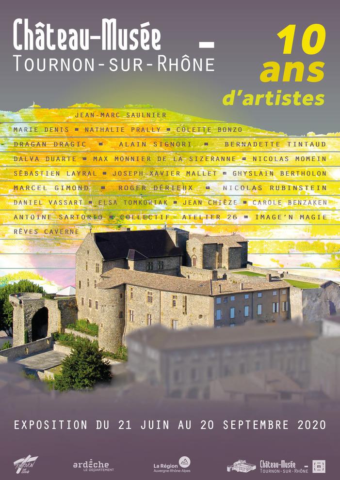 Journées du patrimoine 2020 - Exposition 10 ans d'artistes