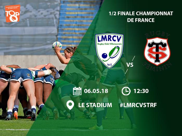1/2 Finale Championnat de France - LMRCV vs Stade Toulousain