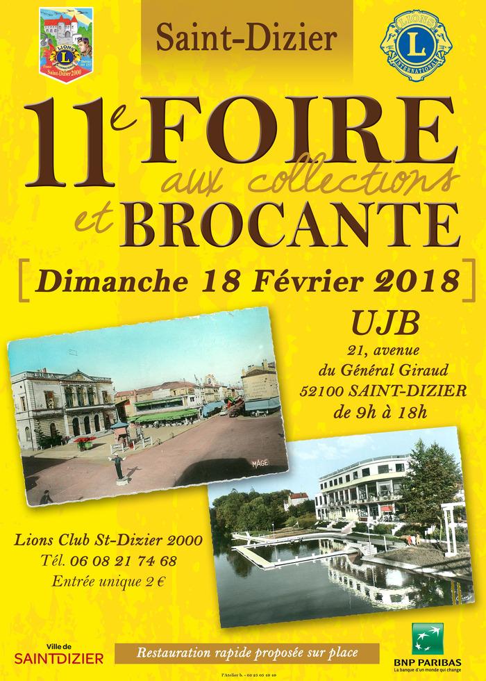 11e foire aux collections et brocante le dimanche 18 for Foire de saint dizier