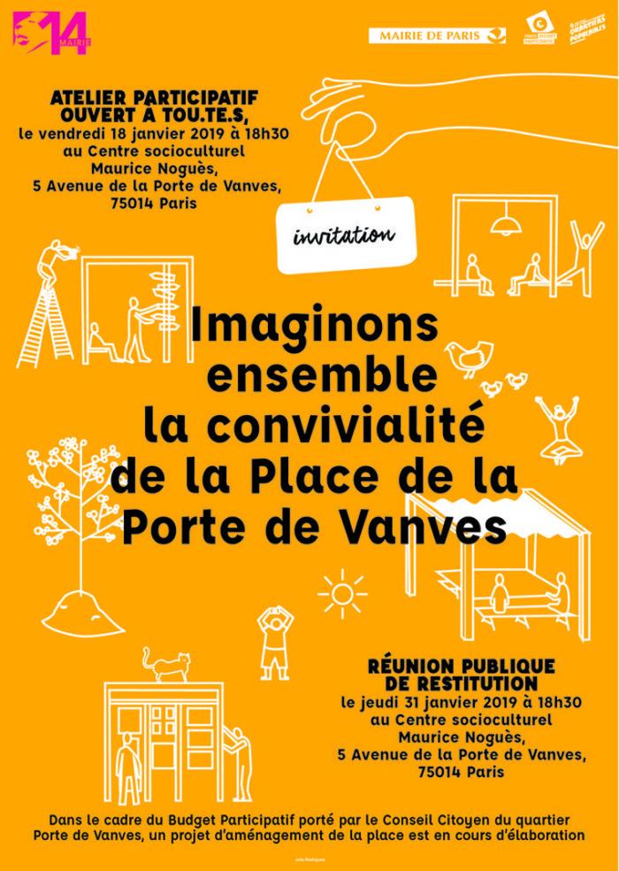 14e : Atelier participatif // Imaginons ensemble la future place de la porte de Vanves