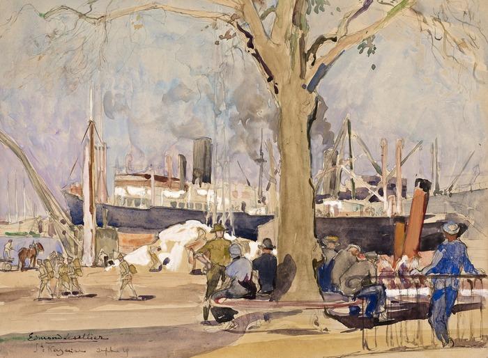 Crédits image : Aquarelle d'Edmond Lesellier, 1919. Collection Saint-Nazaire Agglomération tourisme - Écomusée