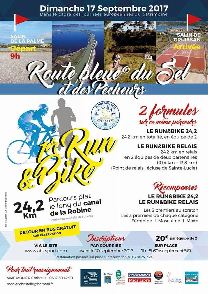 Crédits image : Affiche 1er RUN & BIKE de La Palme à Gruissan