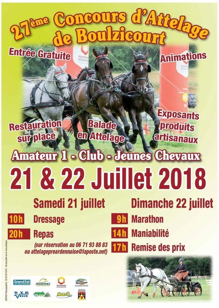 Concours d'Attelage de Boulzicourt, à Boulzicourt (08)