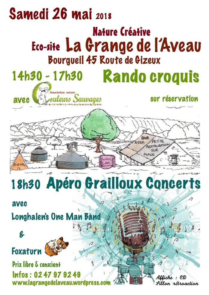 26 mai 2018 - Rando croquis et Apéro Grailloux concert