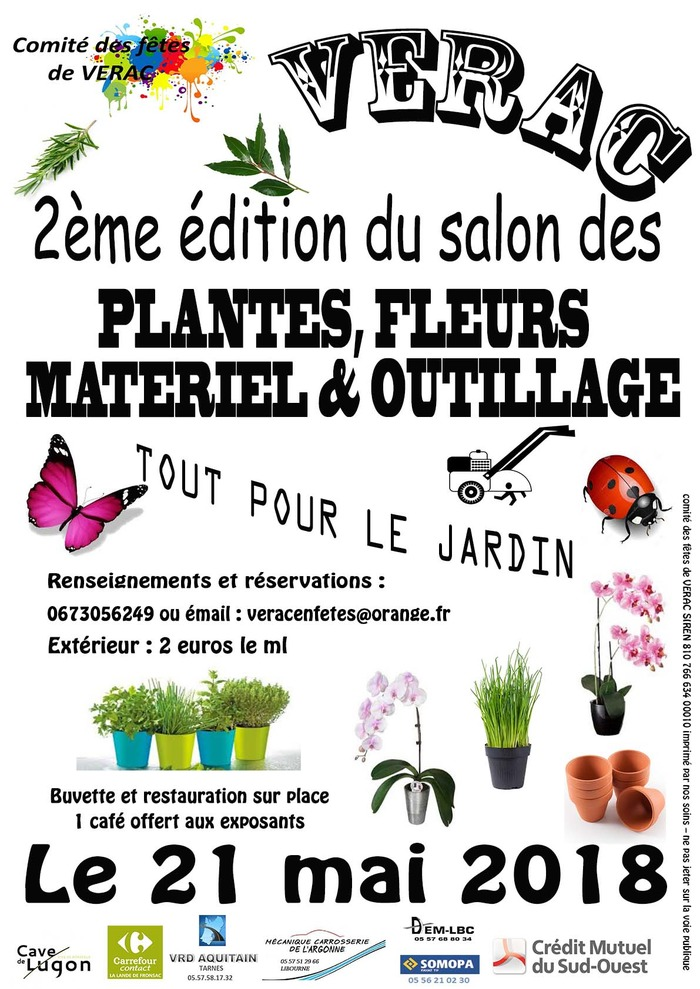 2ème édition du salon des plantes, fleurs matériel et outillage
