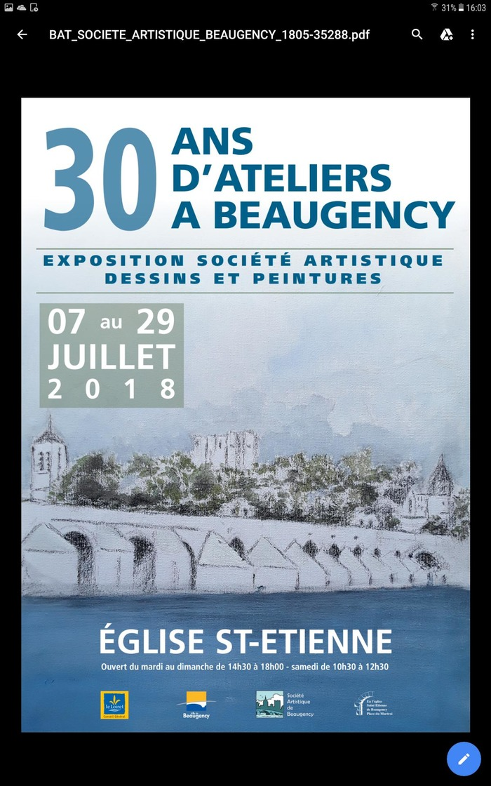 30 ans d'ateliers à Beaugency