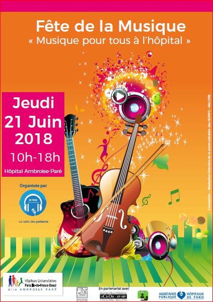 3ème édition de la Fête de la musique à l'hôpital Ambroise Paré