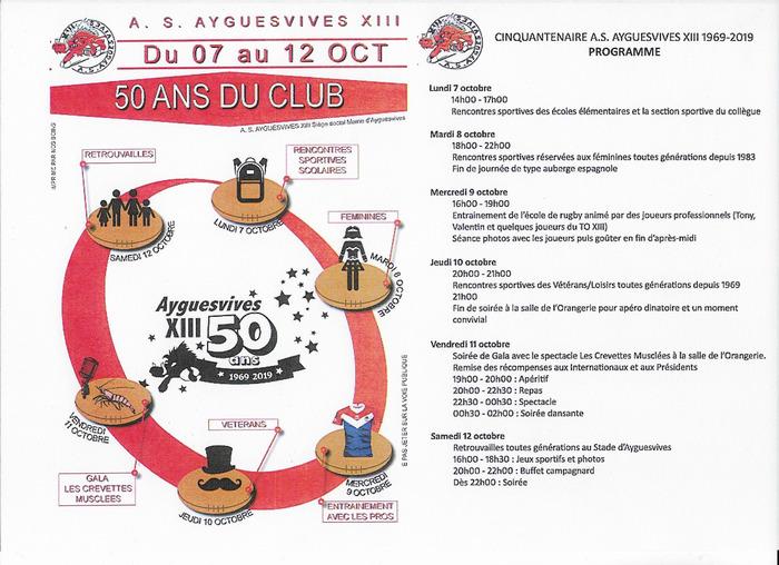 50 ans du club ASA XIII !