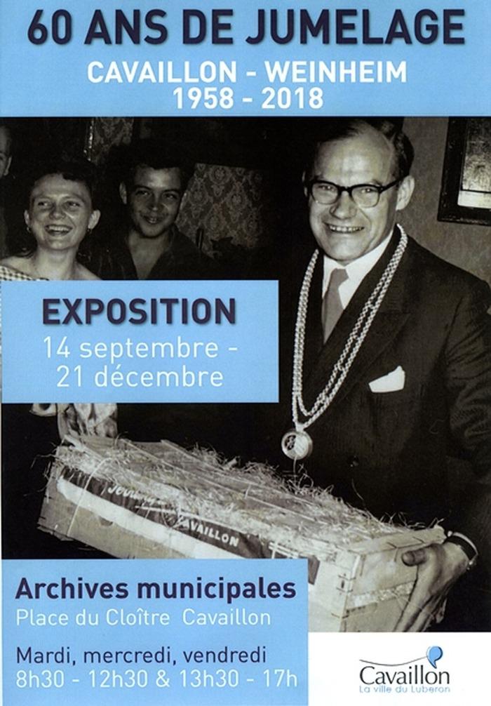 Journées du patrimoine 2018 - 60 ans de jumelage : Cavaillon-Weinheim (1958-2018)