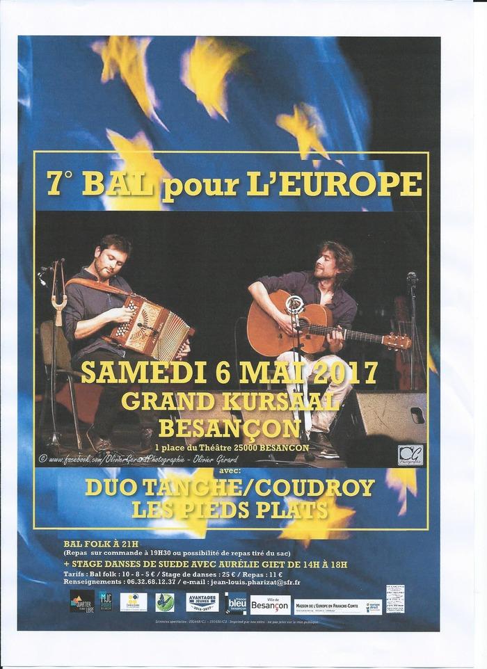 7° Bal pour l'Europe avec le Duo Tanghe/Coudroy et Les Pieds Plats