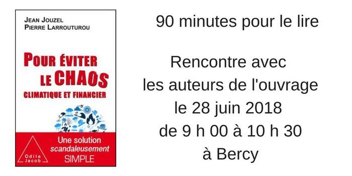 90 minutes pour le lire :  « Pour éviter le chaos économique et financier »