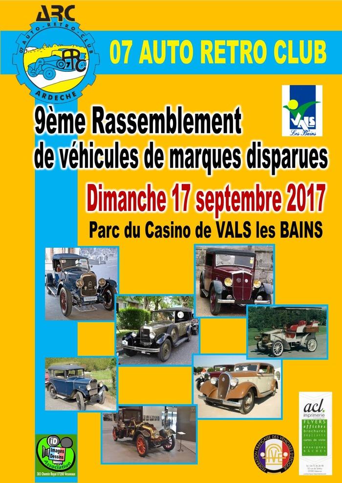 Journées du patrimoine 2017 - 9eme rassemblement de véhicules de marques disparues