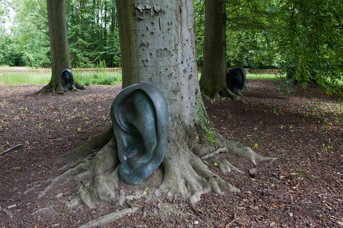 Crédits image : Claudio Parmiggiani, Il bosco guarda e ascolta, 1999-2004, photo: K. Stöber,