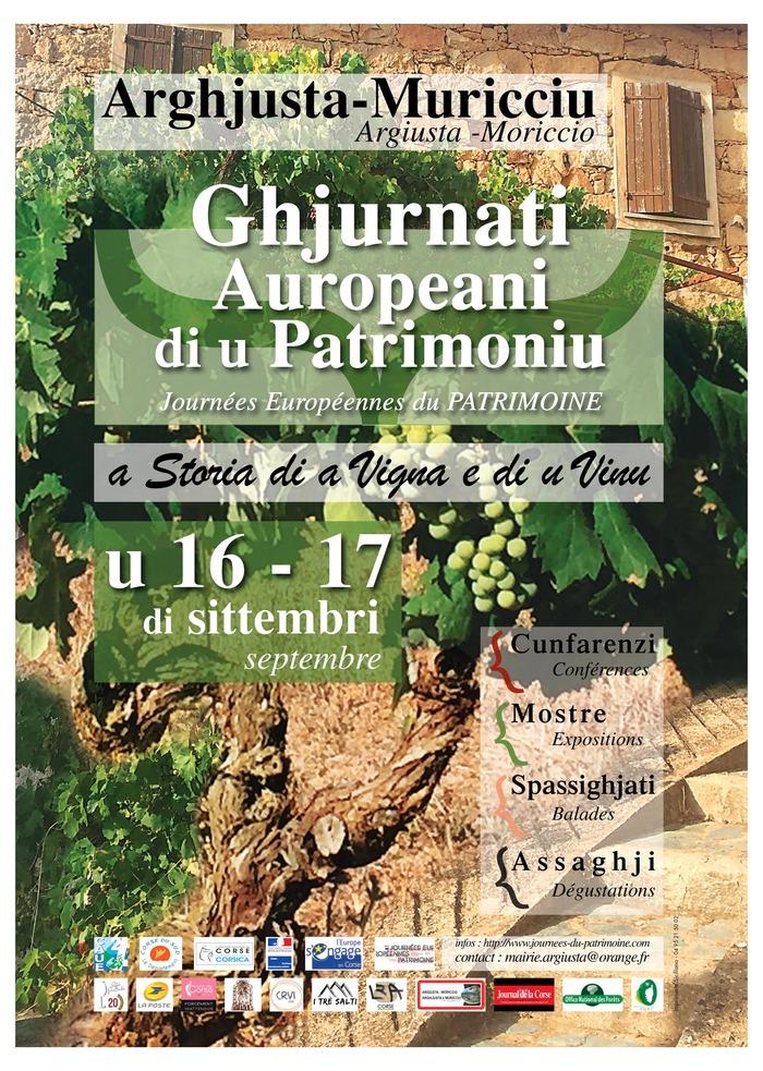 Journées du patrimoine 2017 - A storia di a Vigna e di u Vinu