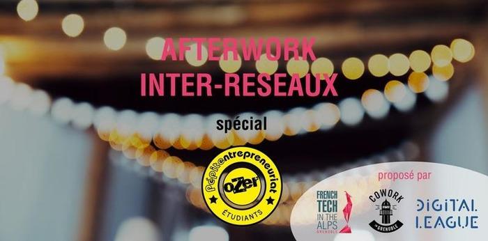 AfterWork inter-réseaux Cowork in Grenoble, Digital League, French Tech in the Alps et Péite Ozer