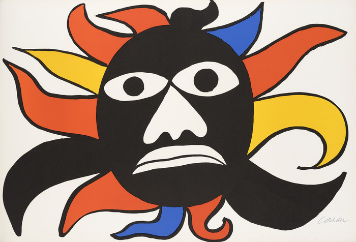 Crédits image : Alexander CALDER, Black Sun / Black Face, 1969. Lithographie. Collection privée.