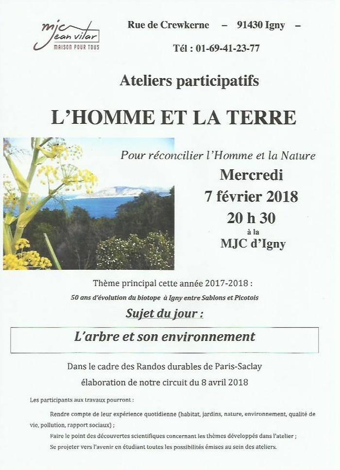 Reporté au 14 mars 20h30  !!!! Ateliers participatifs : L'arbre et son environnement