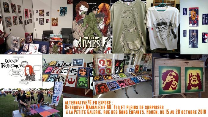 alternative76.fr expose Marialexie BD et Flo : Expo reportée début Novembr, nous vous tiendrons au courant.