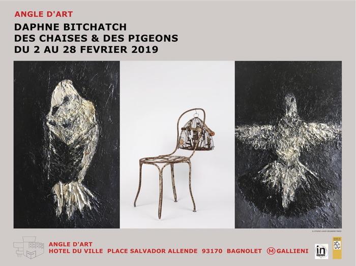 Angle d'art. Daphné Bitchatch. Des chaises & des pigeons. Bagnolet.