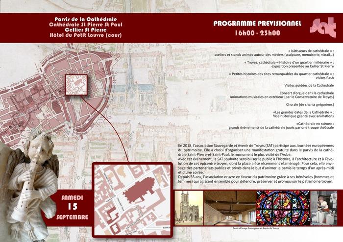 Journées du patrimoine 2018 - Animations proposées par l'association Sauvegarde et Avenir de Troyes (SAT)