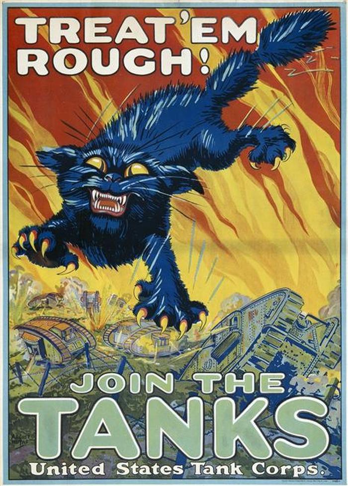 Crédits image : Affiche américaine de recrutement réalisée par August Hutaf (1879-1942) (c) musée de l'Armée - Paris - dist. RMN-GP