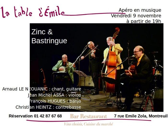 Apéro-Dîner Zinc & Bastringue