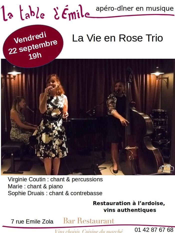 Apéro La vie en rose Trio