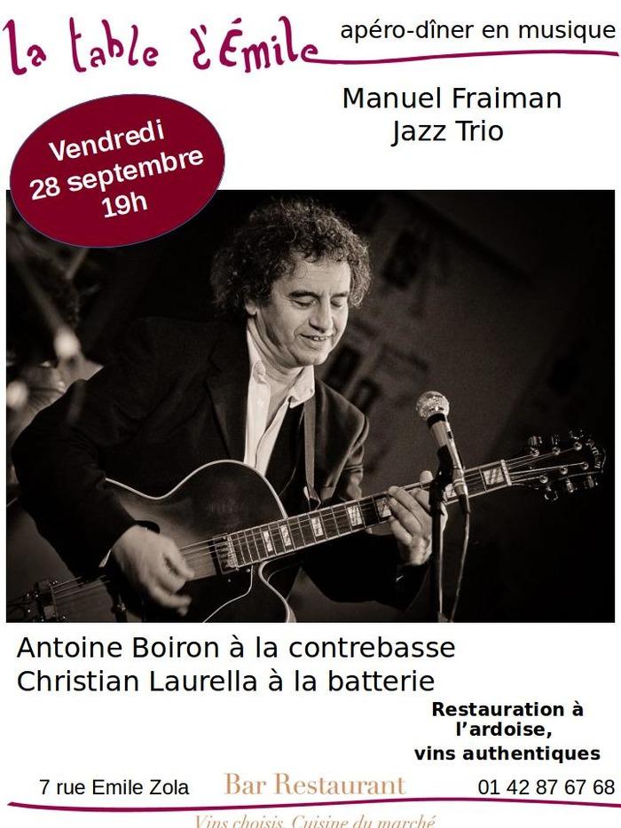 Apéro Manuel Fraiman Jazz Trio